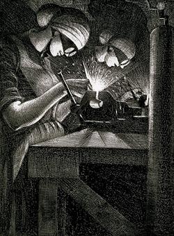 Acetylene Welder. [CANADIAN WAR MUSEUM: AN19710261-0533]