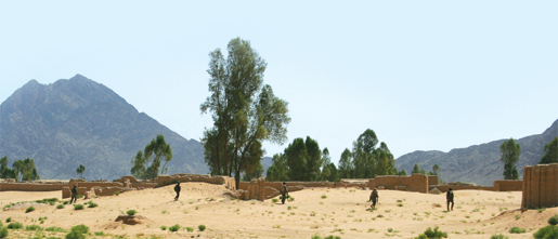 Afghan soldiers sweep into the village of Regay, Panjwai District. [PHOTO: ADAM DAY]