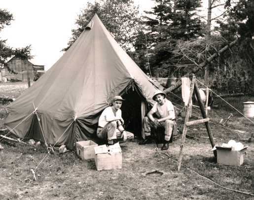A 1949 SHORAN site at Hecla, Man. [PHOTO: LIBRARY AND ARCHIVES CANADA—PA066513]