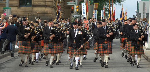 The Cameron Highlanders of Ottawa. [PHOTO: ADAM DAY]