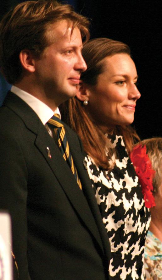 Prince Floris and Princess Aimée attend the opening ceremonies. [PHOTO: JENNIFER MORSE]