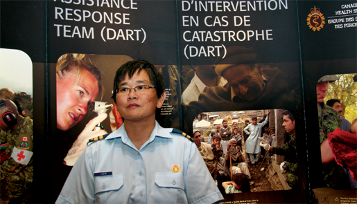Canadian Forces physician Chiam Liew. [PHOTO: Sharon Adams]