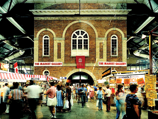 The colourful backdrop of the Market Gallery. [PHOTO: ST. LAWRENCE MARKET]