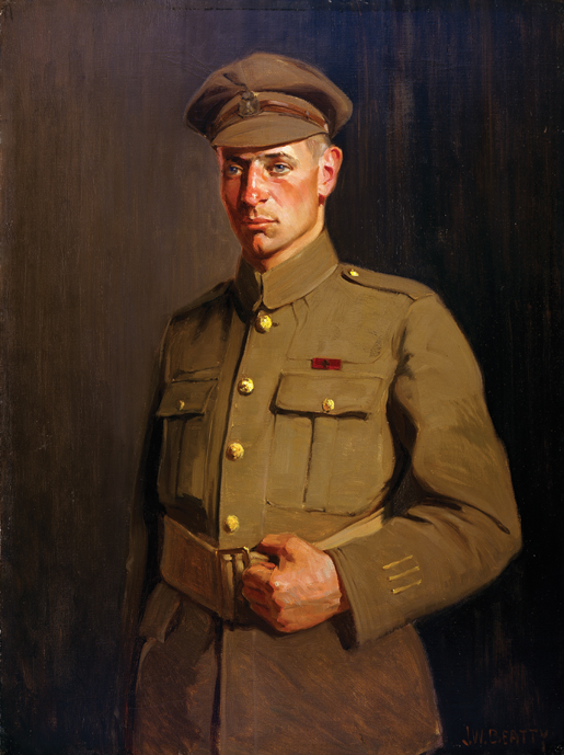 Portrait of Pte. C.J. Kinross, VC. [CANADIAN WAR MUSEUM—AN19710261-0098]