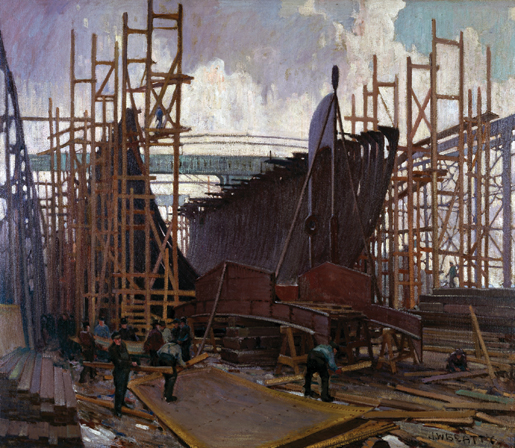 Ship Building, Collingwood. [CANADIAN WAR MUSEUM—AN19710261-0105]