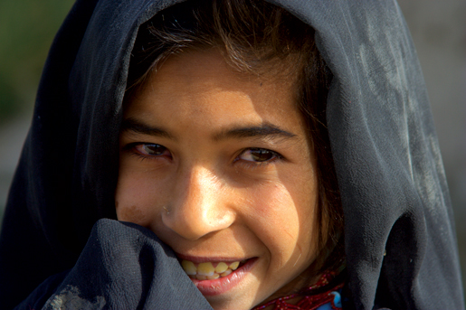 The younger Afghans were always happy to smile at the Canadians. [PHOTO: ADAM DAY]
