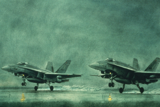 Hornet Scramble. [CANADIAN WAR MUSEUM—AN19850388-003]