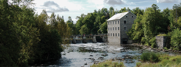 Watson's Mill was built on the Rideau River at Manotick. [PHOTO: COURTESY OF CITY OF OTTAWA]