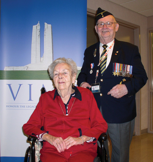 Mary Glanville and Francis Christian make the most of a visit at the Camp Hill Veterans Memorial Building in Halifax. [PHOTO: TOM WATERS]
