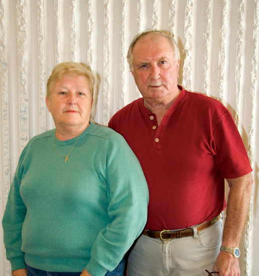 Jo-Ann and Bob MacEachern visit veterans on behalf of  Grand Bend, Ont., Branch. [PHOTO: SHARON ADAMS]