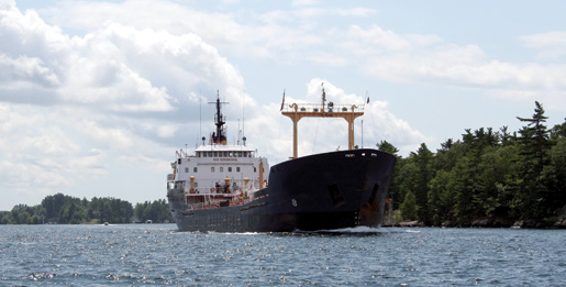 A vessel transits the St. Lawrence Seaway. [PHOTO: ©iStockphoto/troyerimages]