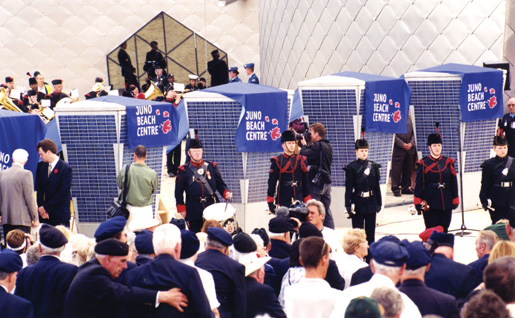 Kiosks bear the names of those who donated funds to the cause. [PHOTO: Dan Black]