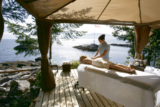 The Rockwater Secret Cove Tenthouse Spa near Sechelt provides a relaxing getaway. [PHOTO: SUNSHINE COAST TOURISM]