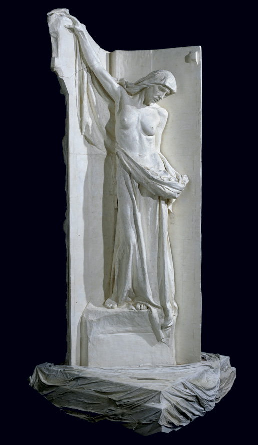 Walter Allward's sculpture, Charity, was created sometime between 1925 and 1930 for the Vimy Memorial. [CANADIAN WAR MUSEUM—AN19770315-009]