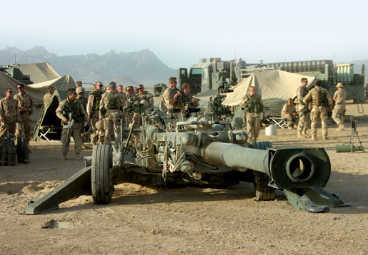 An M-777, 155-mm field gun, north of Zahri District Centre in Afghanistan. [PHOTO: SERGEANT LOU PENNEY, CANADIAN FORCES]