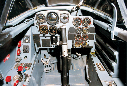 The cockpit of a Me.262A. [PHOTO: U.S. AIR FORCE]