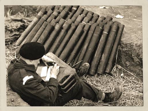 From a battlefield in Northwest Europe, Private R.A. Snelgrove writes home to family in London, Ont. The date is April 9, 1945. [PHOTO: LEGION MAGAZINE ARCHIVES]