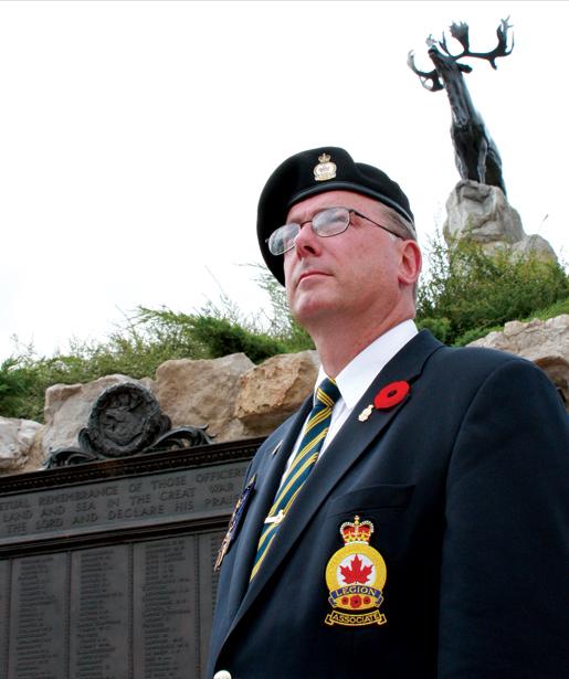 Ed Fewer of Grand Falls/Windsor, Nfld., visits the Beaumont-Hamel Newfoundland Memorial in France. [PHOTO: SHARON ADAMS]