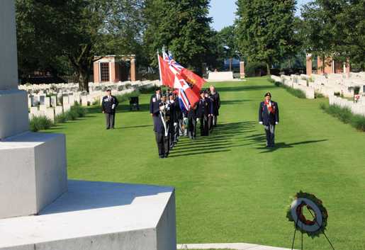 Ceremonies at Groesbeek Canadian War Cemetery in the Netherlands. [PHOTO: SHARON ADAMS]