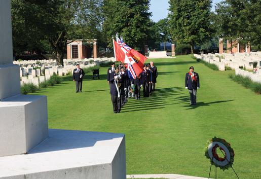 Ceremonies at Groesbeek Canadian War Cemetery in the Netherlands. [PHOTO: SHARON ADAMS]