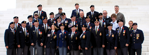 Pilgrims and other tour participants visit the Canadian National Vimy Memorial. [PHOTO: SHARON ADAMS]