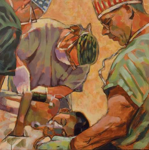 Surgery on Afghan Boy. [KAREN BAILEY]