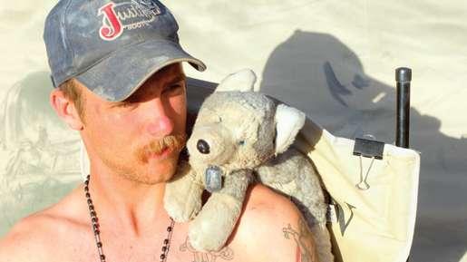 Corporal John Little and his companion. [PHOTO: ADAM DAY]