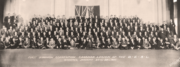 The first convention in 1927 of what was then called the Canadian Legion of the British Empire Service League. [PHOTO: LEGION MAGAZINE ARCHIVES]