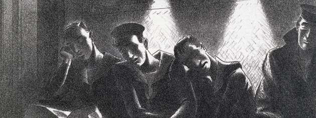 Memory of the Battle of the Atlantic: Night Train To Plymouth, 1944. [CANADIAN WAR MUSEUM: AN19850391-018]