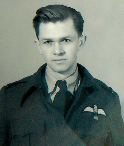Flying Officer William Breithaupt. [PHOTOS: COURTESY HUGH A. HALLIDAY]
