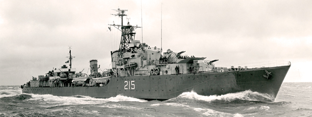 HMCS Haida on patrol in Korean waters, 1952-54. [PHOTO: LEGION MAGAZINE ARCHIVES]