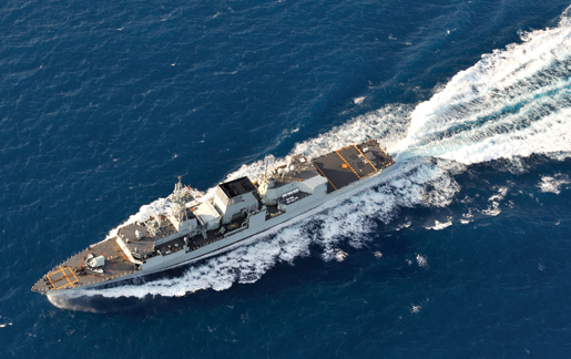 HMCS Halifax sails towards Haiti as part of Operation Hestia, February 2010. [PHOTO: CANADIAN FORCES]