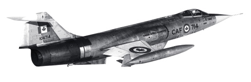 CF-104 Starfighter. [PHOTO: CANADIAN FORCES]