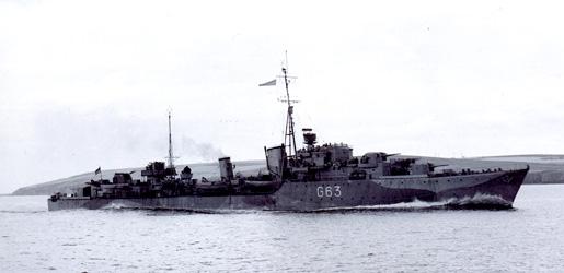HMCS HAIDA. [PHOTO: LIBRARY AND ARCHIVES CANADA PA-206237]