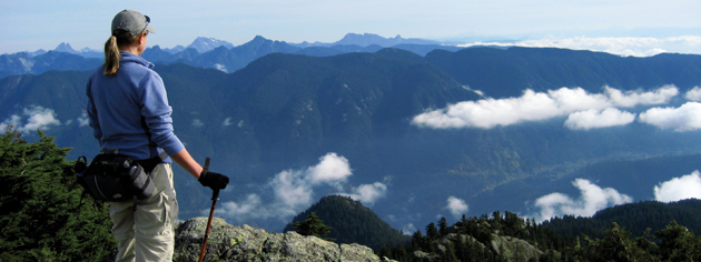 The hunt for a geocache takes Bob Bunting to the top of Mount Seymour, B.C. [PHOTO: BOB BUNTING]