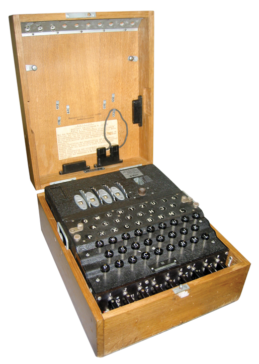 The M4 German naval Enigma machine was introduced on Atlantic U-boats in February 1942. [PHOTO: BLETCHLEY PARK]
