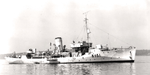 HMCS Chilliwack was among six corvettes assigned to SC 67. [PHOTO:  LIBRARY AND ARCHIVES CANADA—PA105915]
