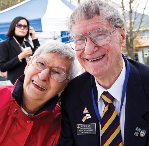 Veteran Alex Sim and wife Dina. [PHOTO: DAN BLACK]
