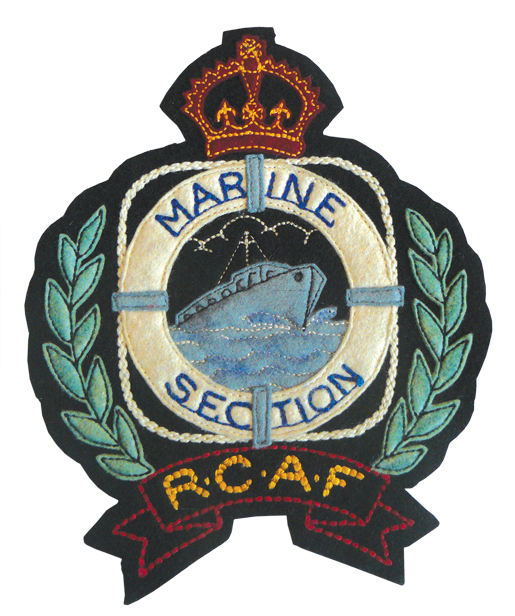 The badge worn on postwar blazers by Marine Branch personnel. [PHOTO: COURTESY HUGH A. HALLIDAY]