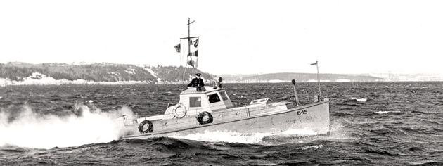 Saint John Harbour Defence Craft 15 on patrol during the Second World War. [PHOTO: DEPARTMENT OF NATIONAL DEFENCE]