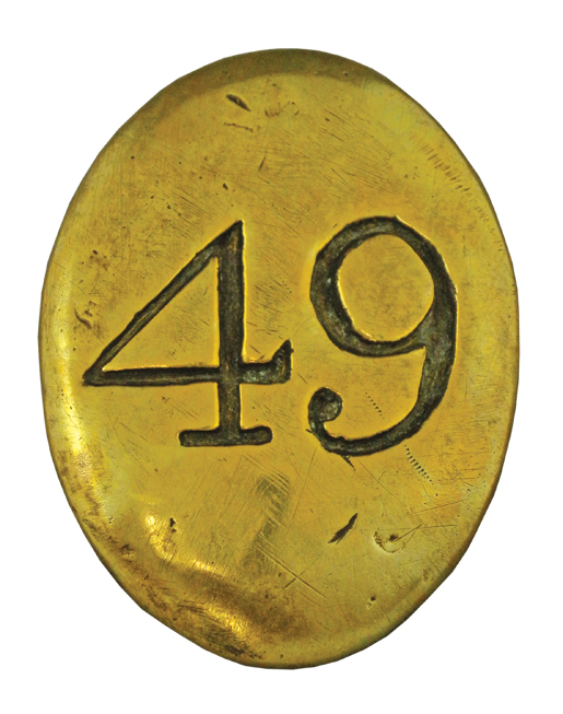 Cross belt plate of The 49th Regiment of Foot.