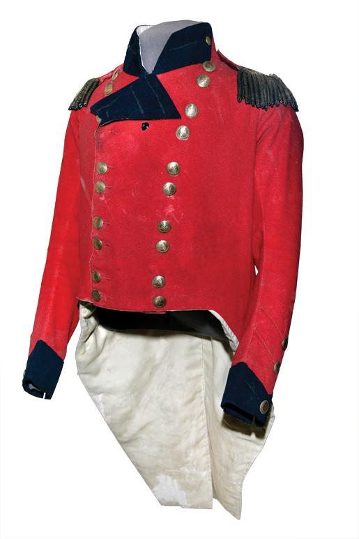 Officers coatee, worn by Brock.