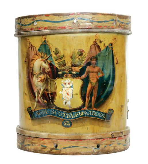 A drum of the Nova Scotia Fencibles.