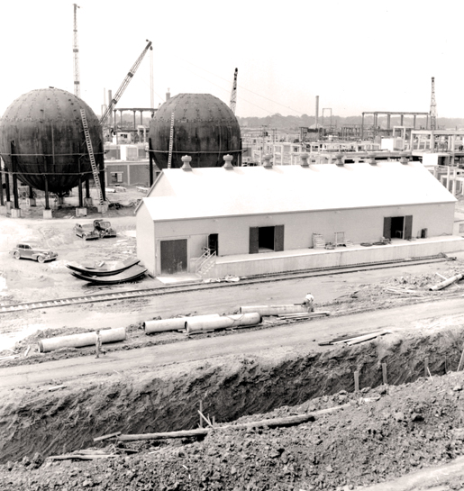 Construction of the Polymer plant.