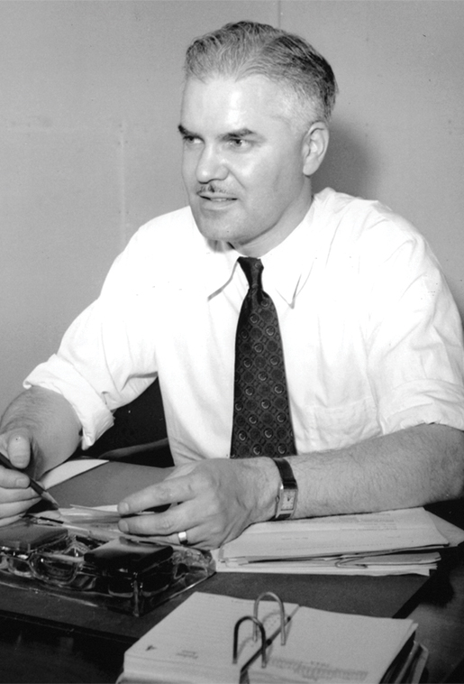 John R. Nicholson, secretary and managing director of Polymer Corp.