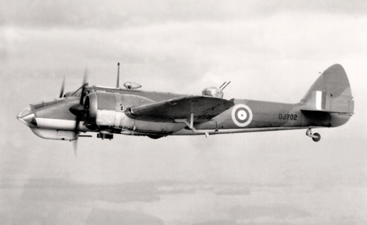 A patrolling Bristol Blenheim. [PHOTO: LIBRARY AND ARCHIVES CANADA—1967-052 NPC]