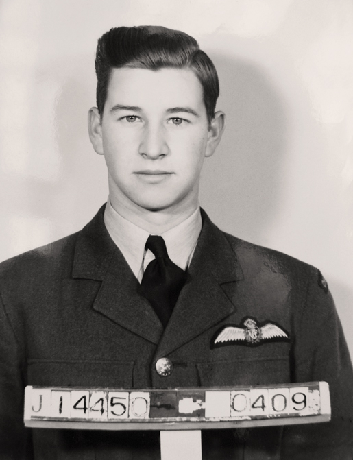 Pilot Officer George N. Goodwin enlisted in 1941. [PHOTO: COURTESY HUGH A. HALLIDAY]