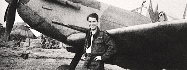 Pilot William McRae next to his aircraft, 1943. [PHOTO: McRAE FAMILY COLLECTION]