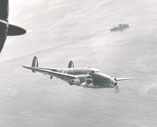 A Lockheed Hudson on patrol. [PHOTO: SHEARWATER AVIATION MUSEUM]