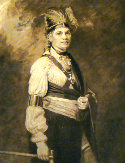 Portrait of Mohawk leader Joseph Brant. [ILLUSTRATION: RIVERBRINK ART MUSEUM]